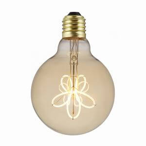 Flower Design Soft Filament Vintage Edison Globes