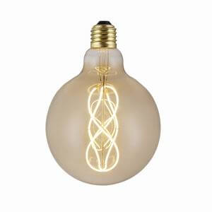 Antique G125 Led Globe Dual Spiral Soft Led Filament 5W