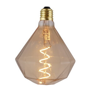 Antique Crystal Diamond Soft Led Bulbs Spiral Filament