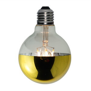 Top Gold Mirror Reflecting Vintage Led Bulbs G80 Globe G80