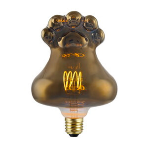 Amber Black Glass Vintage Led Bulbs Special Design Secondary Lights