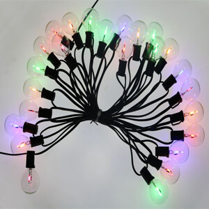 G40 Colorful Led Bulbs 0.5W String Lights