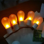 Led flame bulbs for string lights