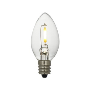 C7 Led Bulbs for String Lights Clear Glass